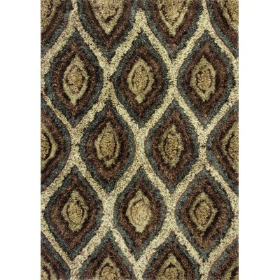 Hindsboro Groove Brown Area Rug Rug Size: 76 x 96