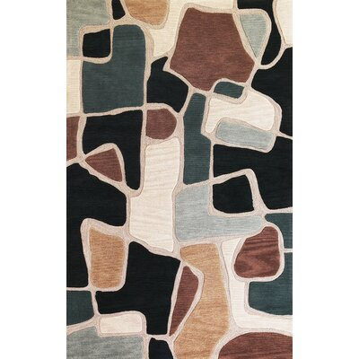 Carrara Beige/Blue Bedrock Rug Rug Size: Rectangle 79 x 99