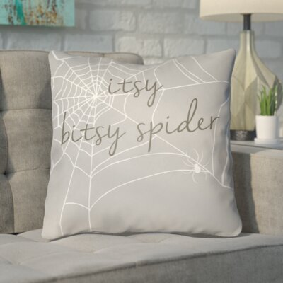 Katharina Indoor/Outdoor Throw Pillow Color: Gray, Size: 18 H x 18 W x 4 D