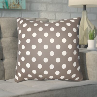 Phi Halloween Polkadots Indoor/Outdoor Throw Pillow Color: Gray, White, Size: 18