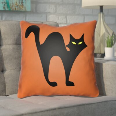 Prima Indoor/Outdoor Throw Pillow Size: 18 H x 18 W x 4 D, Color: Orange