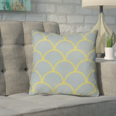 Brendan Indoor/Outdoor Throw Pillow Size: 18 H x 18 W x 5 D, Color: Slate / Yellow