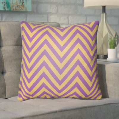 Hallinan Indoor/Outdoor Throw Pillow Color: Purple, Size: 18 H x 18 W x 4 D