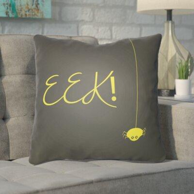 Admiranda Indoor/Outdoor Throw Pillow Color: Dark Gray, Size: 18 H x 18 W x 4 D
