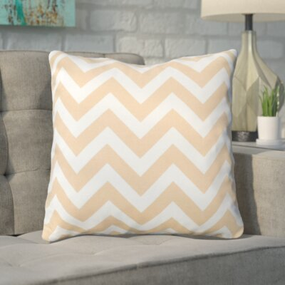 Bollin Chevron 100% Cotton Indoor Throw Pillow Color: Natural