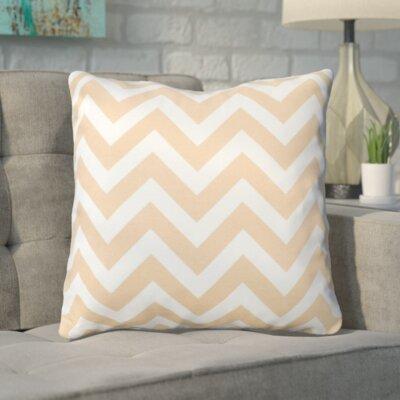 Bollin Chevron 100% Cotton Throw Pillow Color: Natural
