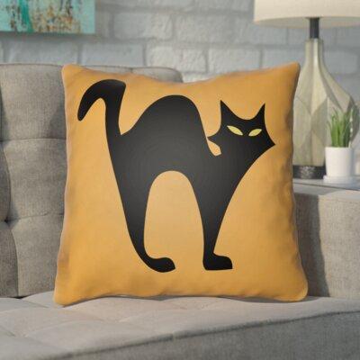 Isolda Indoor/Outdoor Throw Pillow Color: Light Orange, Size: 18 H x 18 W x 4 D