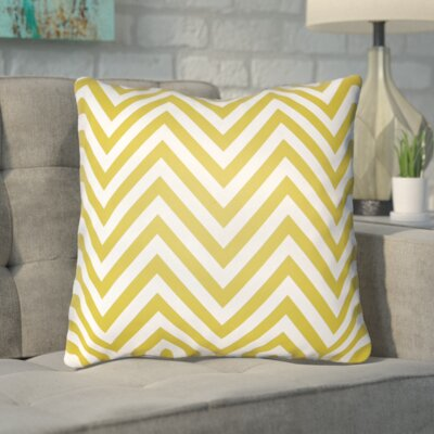 Hallinan Indoor/Outdoor Throw Pillow Color: Yellow, Size: 20 H x 20 W x 4 D