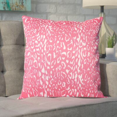 Eustachys Indoor/Outdoor Polyester Throw Pillow Color: Hot Pink