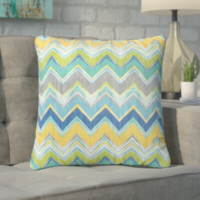 Pine Bluffs Indoor/Outdoor Throw Pillow Size: 18 H x 18 W, Color: Green / Yellow