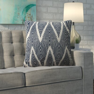 Oliver Cotton Throw Pillow Color: Navy, Size: 18 H x 18 W x 5 D