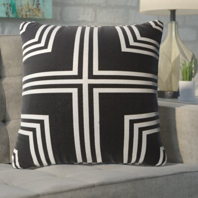 Anastasius Frames Throw Pillow Color: Black
