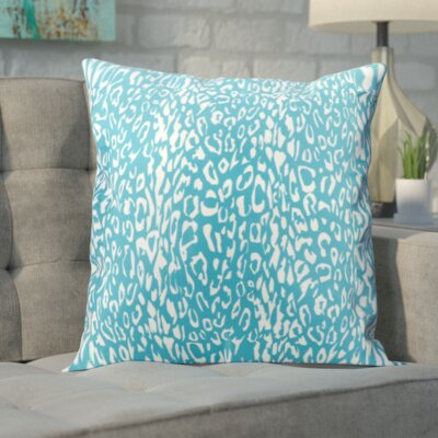 Eustachys Outdoor Throw Pillow Color: Turquoise
