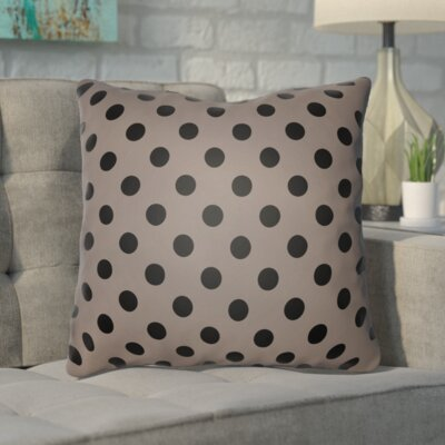 Phi Halloween Polkadots Indoor/Outdoor Throw Pillow Color: Black, Gray, Size: 18