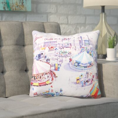 Mina Teslaru Carnivale 2 Throw Pillow