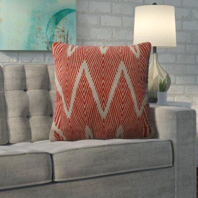 Oliver Cotton Throw Pillow Size: 16.5 H x 16.5 W x 5 D, Color: Mandarin