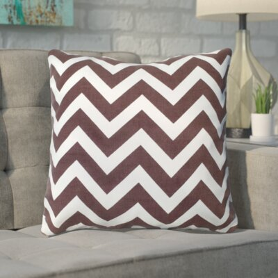 Bollin Chevron 100% Cotton Indoor Throw Pillow Color: Brown