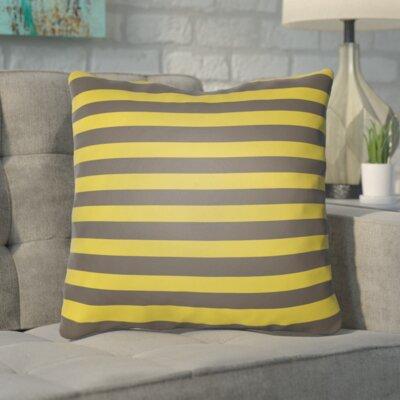 Upsilon Indoor/Outdoor Throw Pillow Size: 20 H x 20 W x 4 D, Color: Green