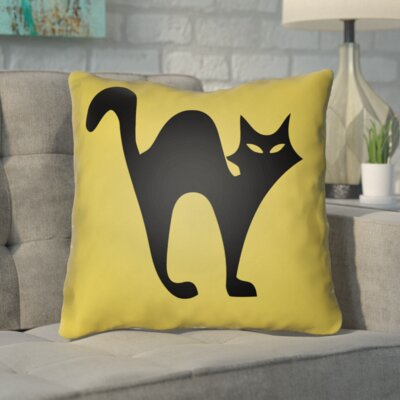 Isolda Indoor/Outdoor Throw Pillow Color: Yellow, Size: 18 H x 18 W x 4 D