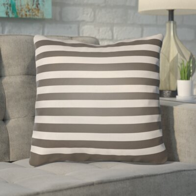 Upsilon Indoor/Outdoor Throw Pillow Color: Gray, Size: 18 H x 18 W x 4 D