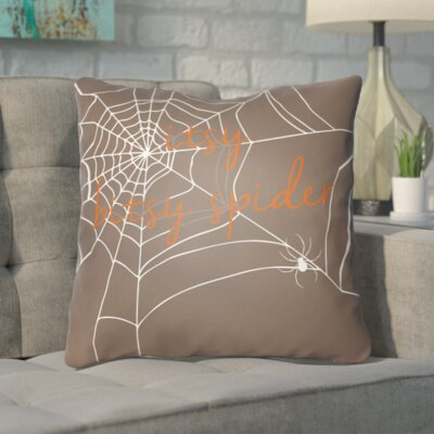 Katharina Indoor/Outdoor Throw Pillow Color: Brown, Size: 20 H x 20 W x 4 D