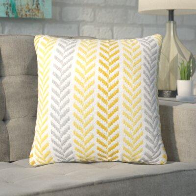 Chevron 100% Cotton Throw Pillow Color: Yellow