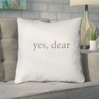 Smetana Indoor/Outdoor Throw Pillow Size: 18 H x 18 W x 4 D, Color: Grey