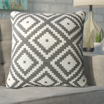 Asencio Zig Throw Pillow Color: Gray
