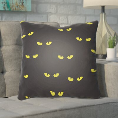 Aldusa Indoor/Outdoor Throw Pillow Color: Black, Yellow, Size: 20 H x 20 W x 4 D