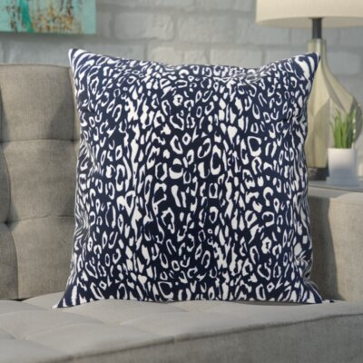 Eustachys Indoor/Outdoor Polyester Throw Pillow Color: Navy