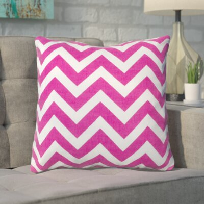 Bollin Chevron 100% Cotton Indoor Throw Pillow Color: Hot Pink