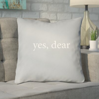 Odelina Indoor/Outdoor Throw Pillow Size: 18 H x 18 W x 4 D, Color: Gray/White