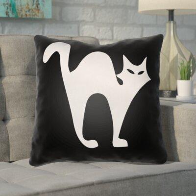 Isolda Indoor/Outdoor Throw Pillow Color: Black, Size: 18 H x 18 W x 4 D