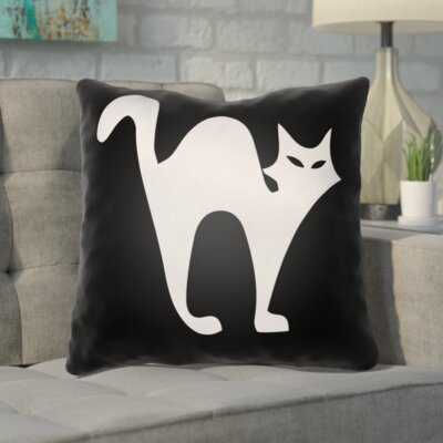 Prima Indoor/Outdoor Throw Pillow Size: 18 H x 18 W x 4 D, Color: Black