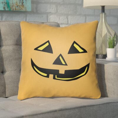 Letitia Indoor/Outdoor Throw Pillow Color: Orange, Size: 18 H x 18 W x 4 D