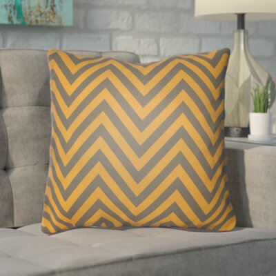 Hallinan Indoor/Outdoor Throw Pillow Color: Orange, Gray, Size: 18 H x 18 W x 4 D
