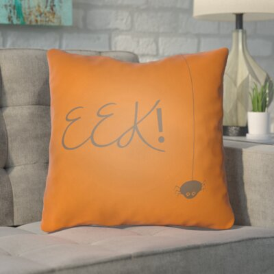 Admiranda Indoor/Outdoor Throw Pillow Color: Orange, Size: 18 H x 18 W x 4 D