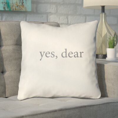 Smetana Indoor/Outdoor Throw Pillow Size: 20 H x 20 W x 4 D, Color: Tan