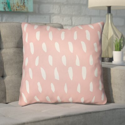 Smetana Indoor/Outdoor Throw Pillow Size: 18 H x 18 W x 4 D, Color: Pink