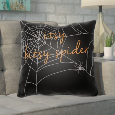 Katharina Indoor/Outdoor Throw Pillow Color: Black, Size: 18 H x 18 W x 4 D