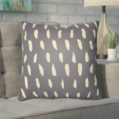 Smetana Indoor/Outdoor Throw Pillow Size: 18 H x 18 W x 4 D, Color: Gray