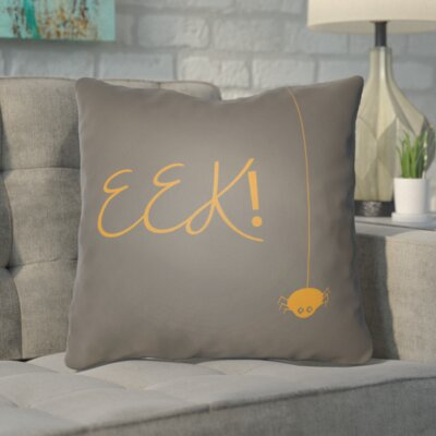 Admiranda Indoor/Outdoor Throw Pillow Color: Gray, Orange, Size: 18 H x 18 W x 4 D