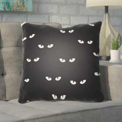 Aldusa Indoor/Outdoor Throw Pillow Color: Black, White, Size: 18 H x 18 W x 4 D