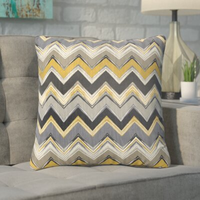 Pine Bluffs Indoor/Outdoor Throw Pillow Size: 20 H x 20 W, Color: Grey / Gold