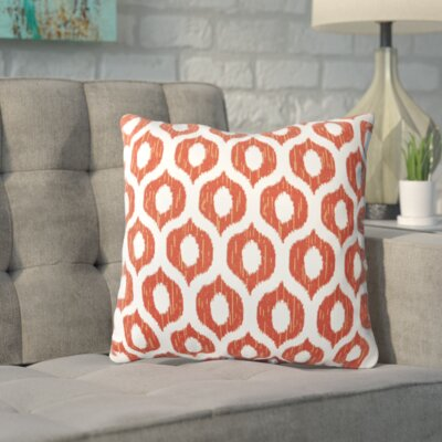 Apollinaris Throw Pillow Color: Vroome Flame