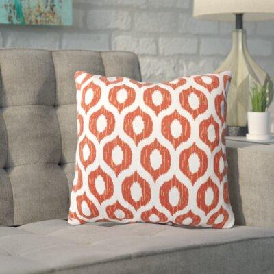 Apollinaris Throw Pillow Color: Vroome Flame