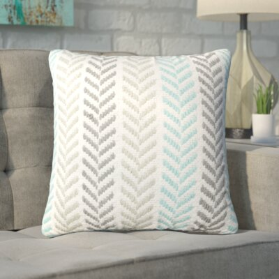 Chevron 100% Cotton Throw Pillow Color: Turquoise