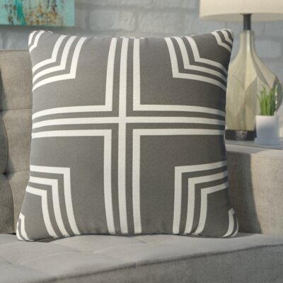 Anastasius Frames Throw Pillow Color: Gray
