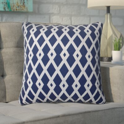 Adler 100% Cotton Throw Pillow Size: 16.5 H x 16.5 W, Color: Ultramarine