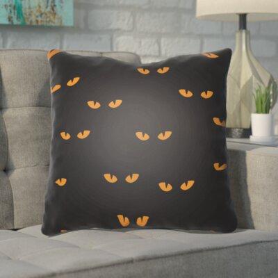 Aldusa Indoor/Outdoor Throw Pillow Color: Black, Orange, Size: 20 H x 20 W x 4 D